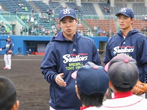 野球教室を開催!
