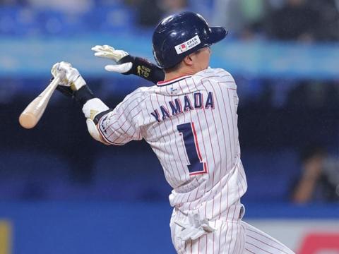山田選手がタイムリー含む、猛打賞の活躍
