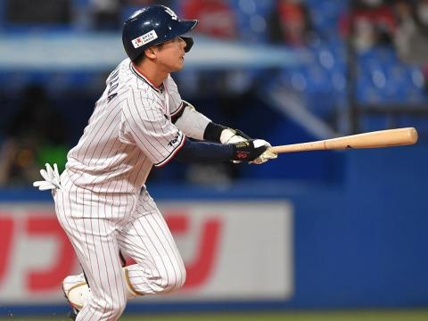 山田選手が猛打賞