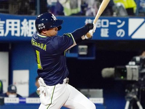 山田選手が2号3ラン「この打席はなんとかしたかった」