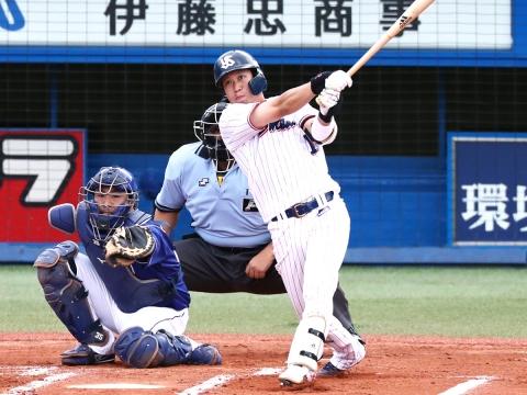 初回に山田選手が2試合連続となる2号2ラン!