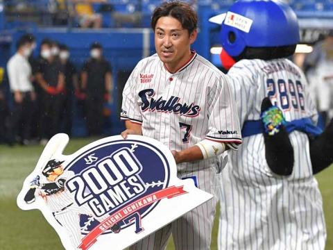 内川選手が通算2000試合出場