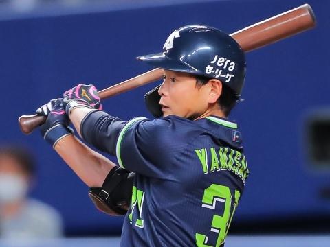 山崎選手が3安打3打点